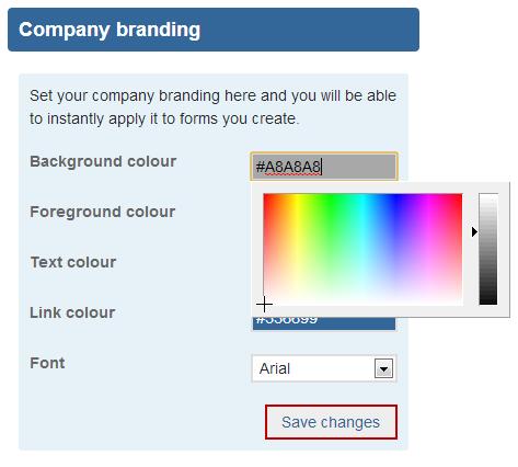 company branding page