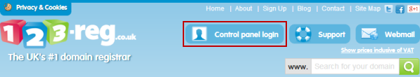 control panel page