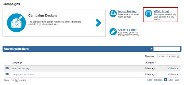 html input button