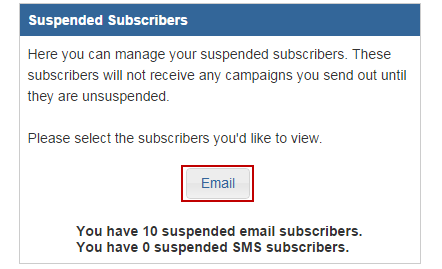 suspended subscribers control panel