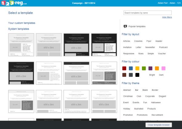 Filter templates