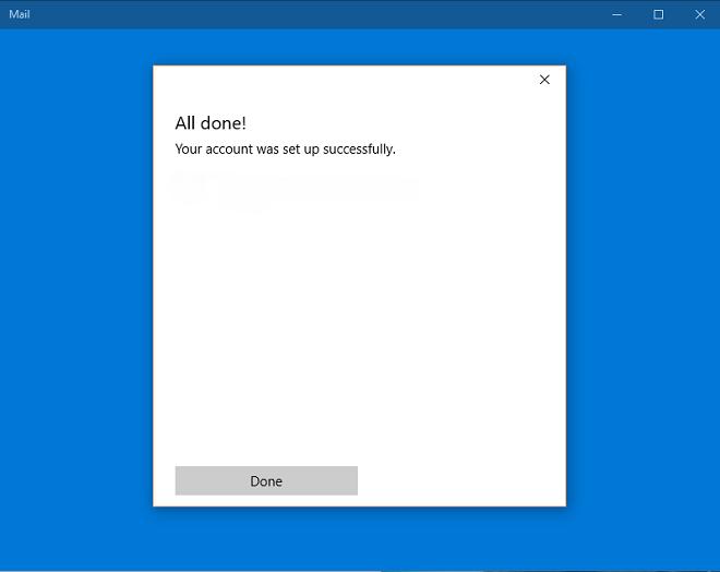 Как настроить учетную запись электронной почты, используя почту Windows 10?