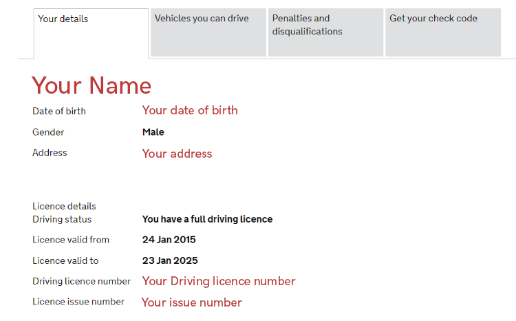 Using my UK driving licence to confirm my identity - 123 Reg Support