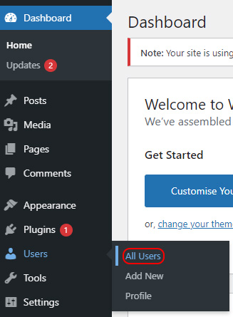 Select All Users