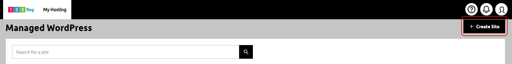 Select Create Site