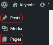 Select Pages or Posts