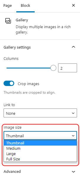 Change Image size