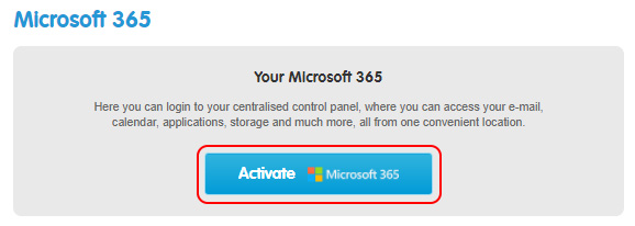 Choose Activate M365