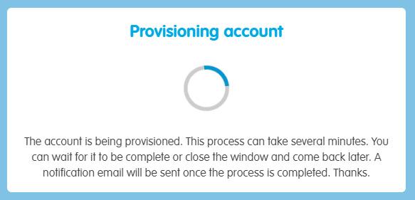 Provisioning account