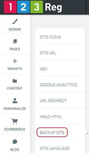 Click Backup Site