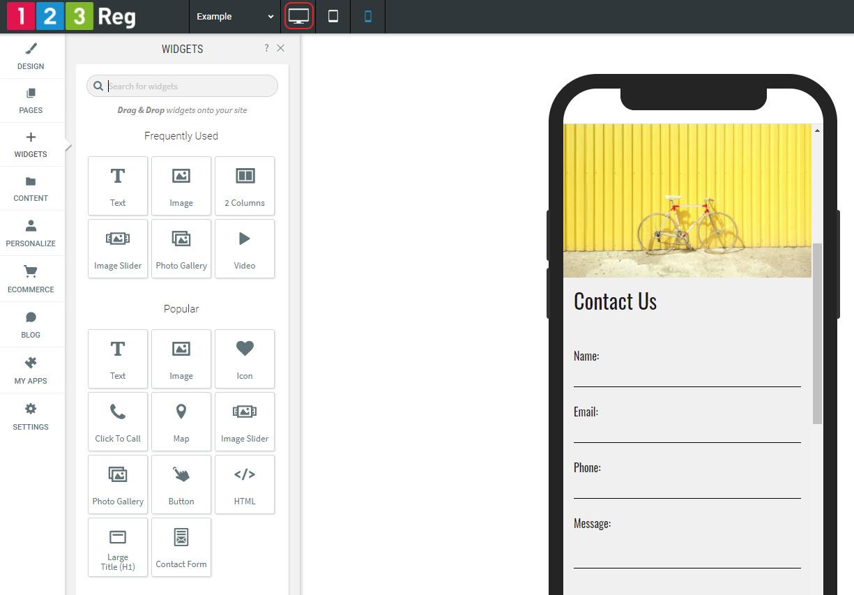 Edit Mobile site